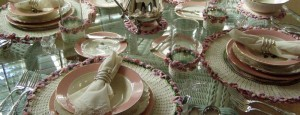 Doilies Luncheon Table