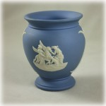 Wedgwood Jasperware Blue Bas Relief Vase