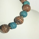 FD141139 blue and brown cork bead 1